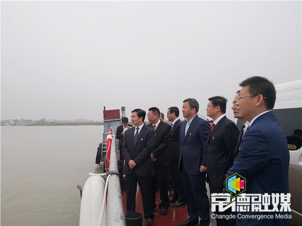 曹立军调研汉寿县坡头汽车渡口安全运营工作