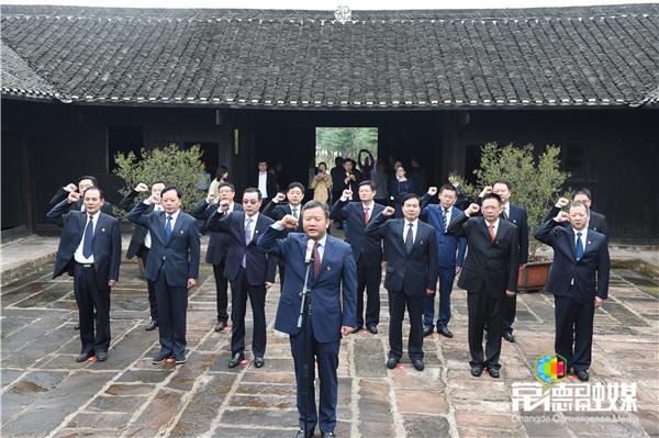市政府党组前往帅孟奇同志故居开展革命传统教育