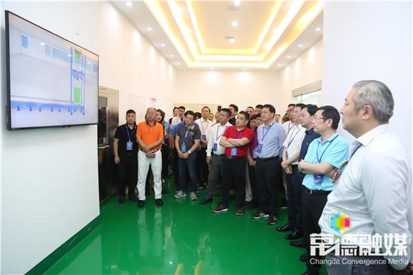 广东省湖南商会来常考察  周德睿主持座谈