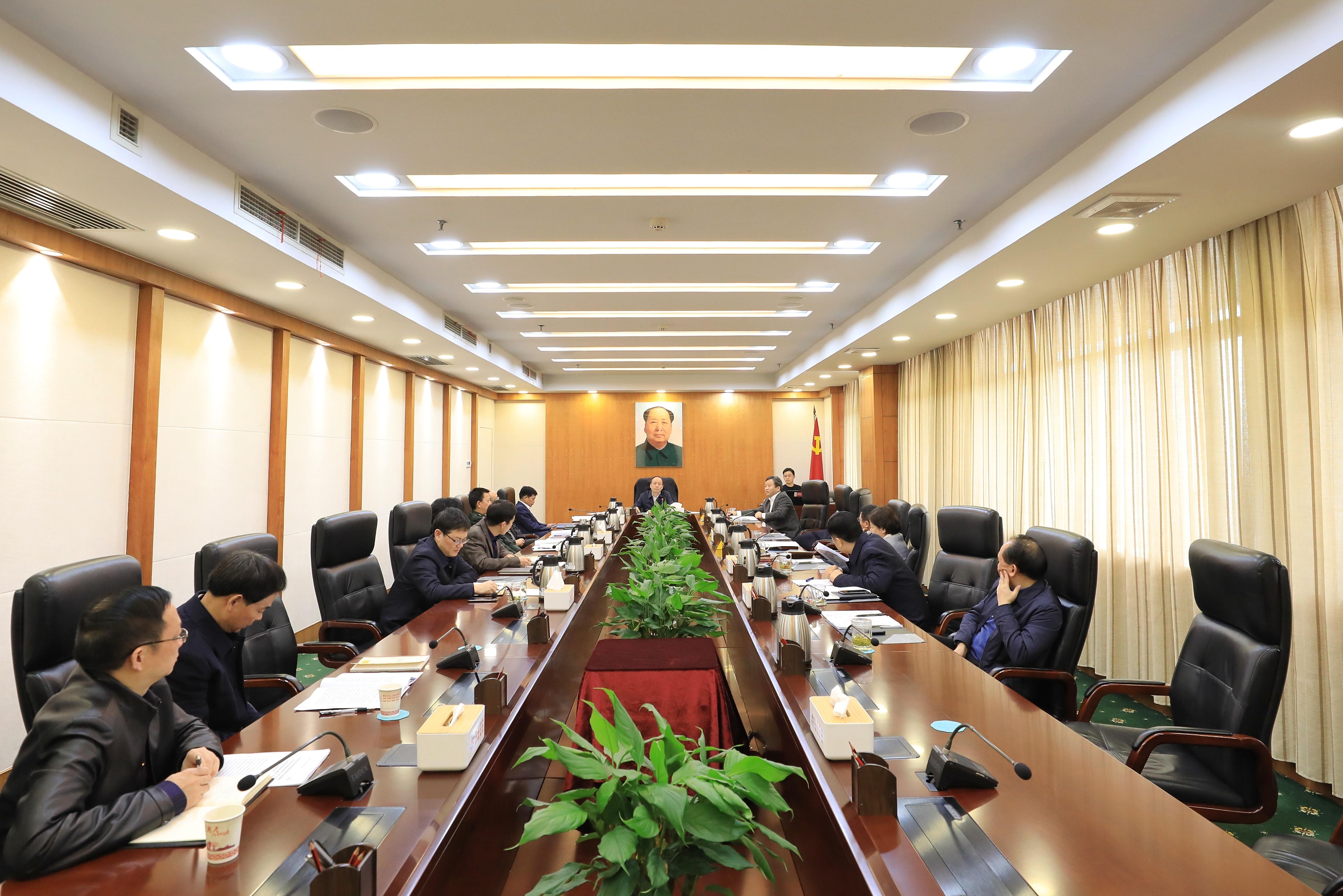 周德睿主持召开市委常委会会议 传达学习中央、省有关会议精神