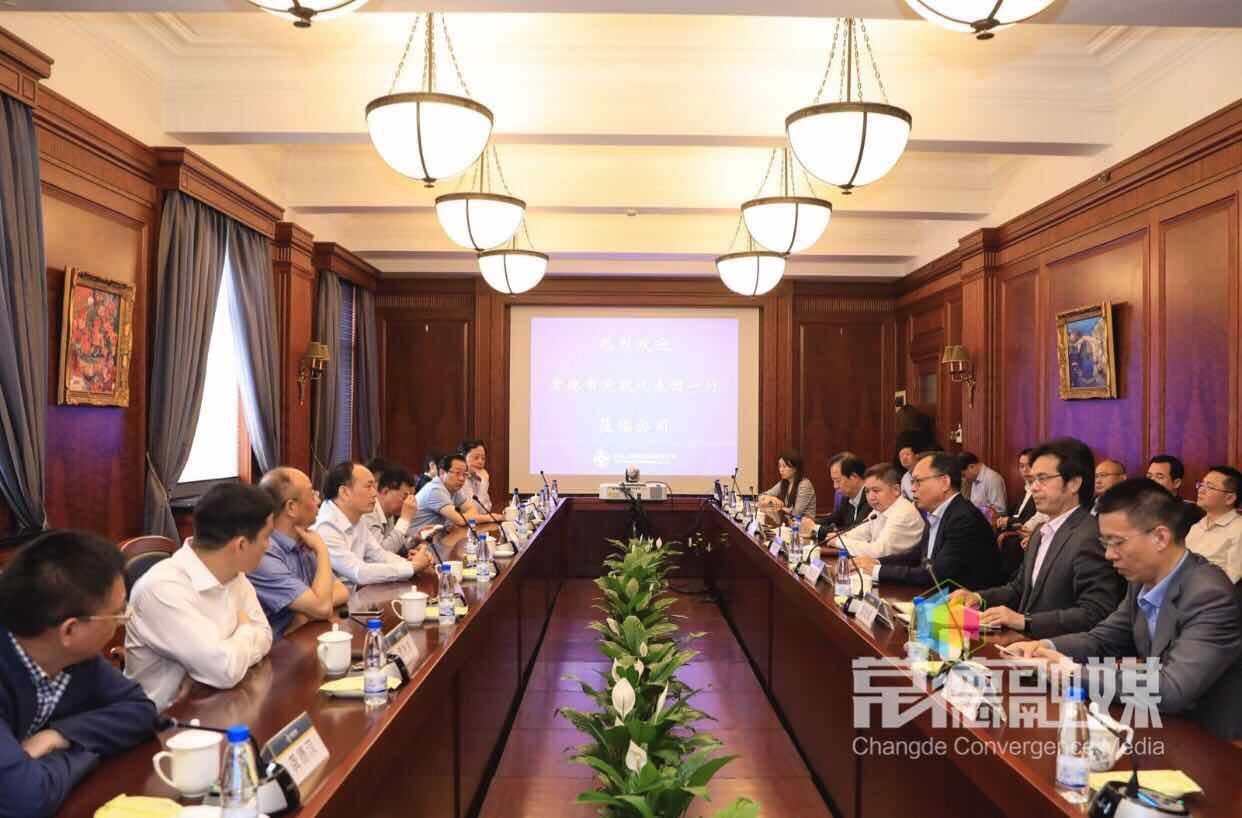 周德睿率党政代表团在上海拜访战略投资者