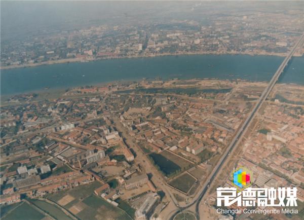 【全城征集】  32年前常德城的航拍老照片  你有吗?