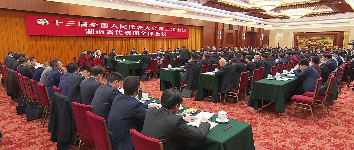 王沪宁参加湖南代表团审议 周德睿就如何落实意识形态责任制建言